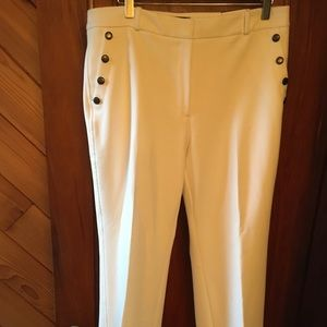 White House Black Market/WHBM sz 12 s ivory pants